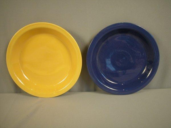 2088: Fiesta Kitchen Kraft large yellow pie plate, smal