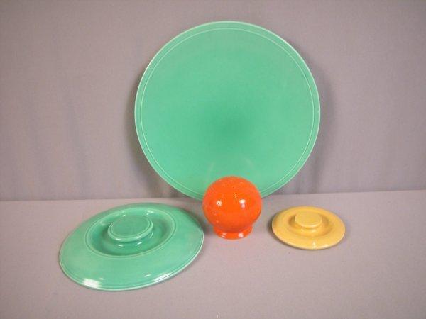 2092: Fiesta Kitchen Kraft group - green cake plate, gr