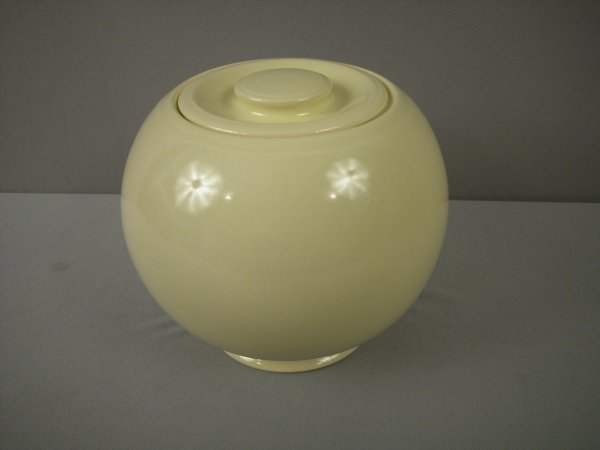 2094: Fiesta Kitchen Kraft rare ivory large covered jar