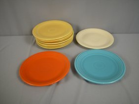 "Fiesta 7"" Plate Group - 7 Yellow, Ivory, Red, Tur"