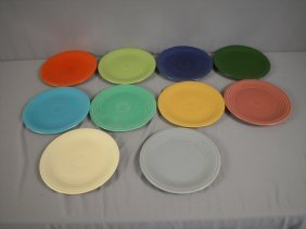 "Fiesta 9"" Plate Group - 10 Colors - Forest Green,"