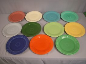 "Fiesta 10"" Plate Group - All 11 Colors - Medium G"