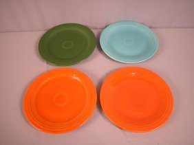 "Fiesta 10"" Plate Group - 2 Red , Forest Green And"
