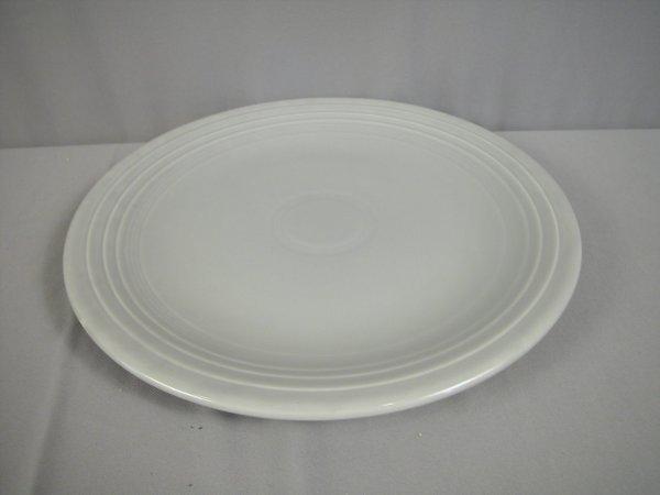 "2195: Fiesta gray 15"" chop plate"