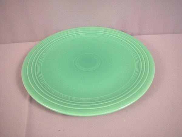 """2202: Fiesta light green 15"""" chop plate"""