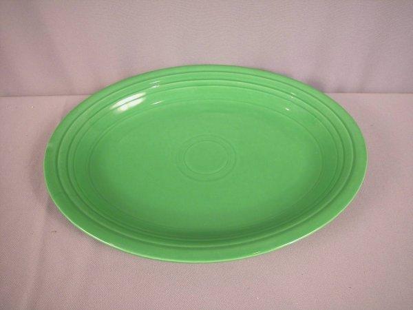 2205: Fiesta medium green platter