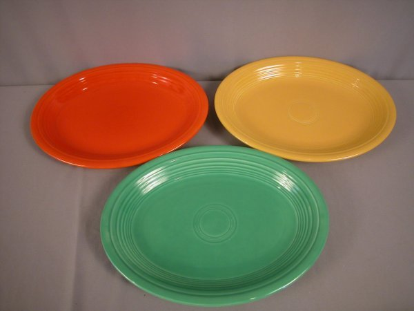 2206: Fiesta platter group - red, light green and yello