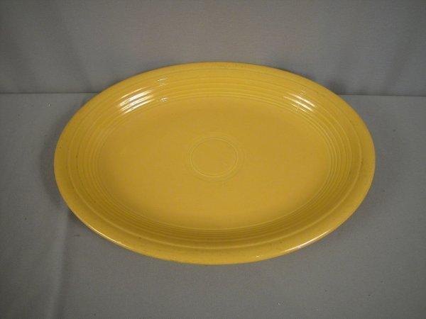 2207: Fiesta yellow platter