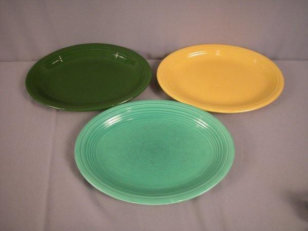 2208: Fiesta platter group - forest green, yellow and l
