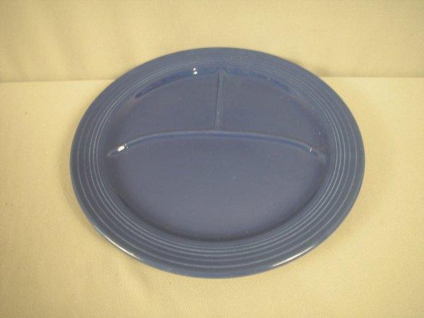"""2213: Fiesta 12"""" cobalt compartment plate"""