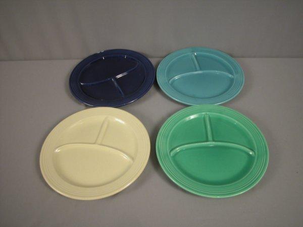 "2214: Fiesta 10 1/2"" compartment plate group - cobalt ("