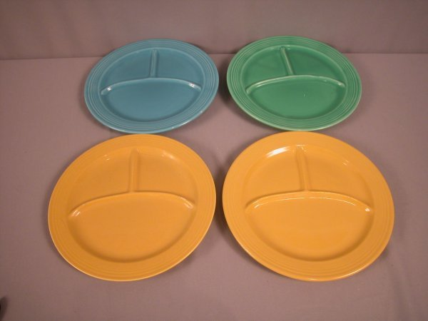 """2215: Fiesta 10 1/2"""" compartment plate group - turquois"""