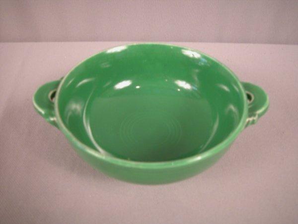 2232: Fiesta medium green cream soup , rare color