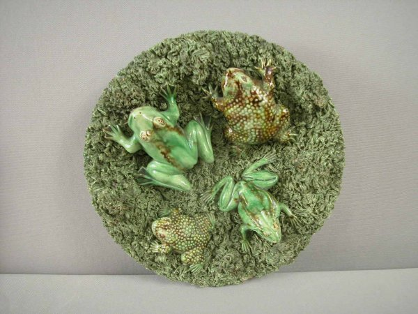 807: Majolica  JOSE CUNHA Portugal Palissy plaque with
