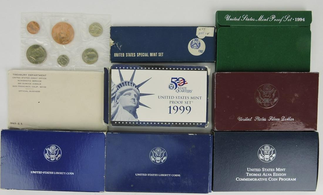 US Mint coin lot: 1976 partial mint set,