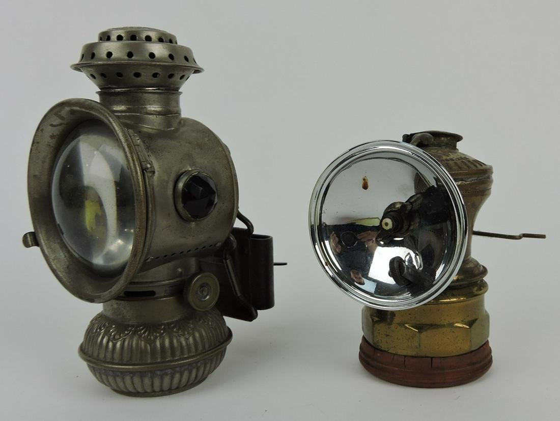 Everlit bicycle lamp and Auto-Lite carbide