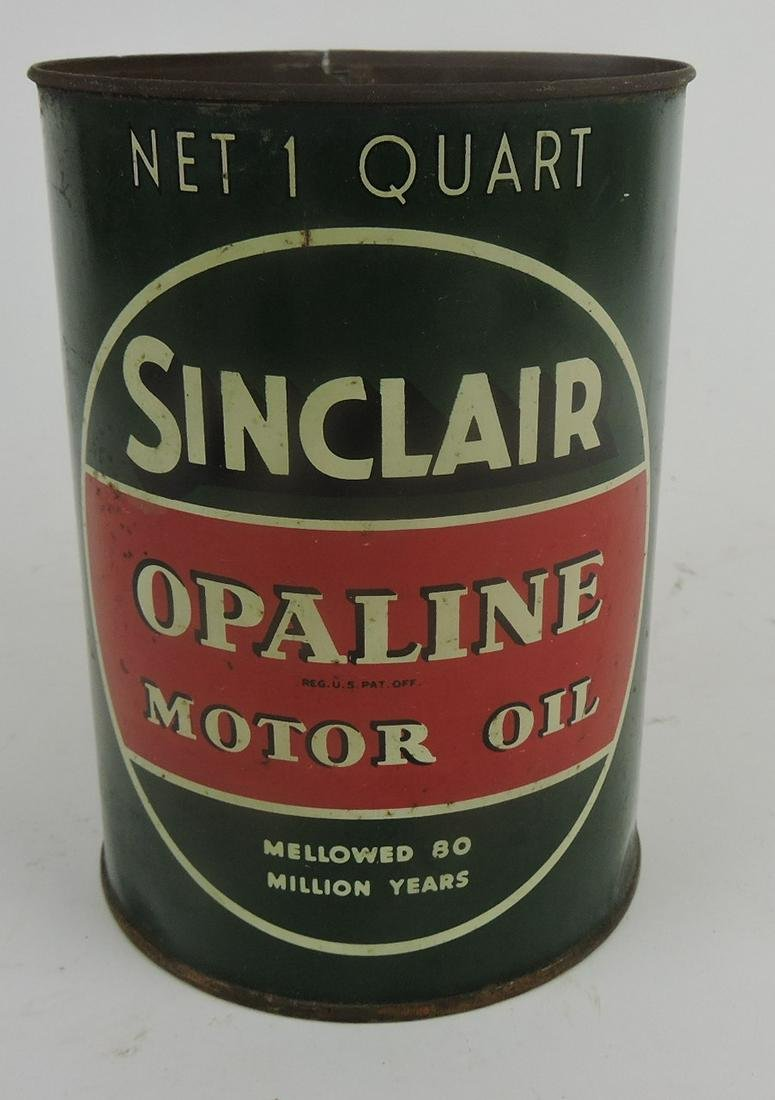 Sinclair Opaline Motor Oil can with