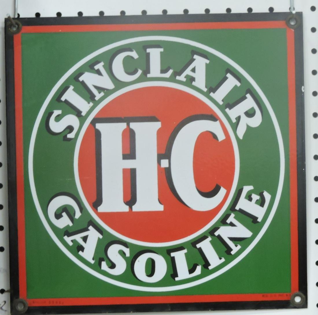 Sinclair HC gasoline porcelain single