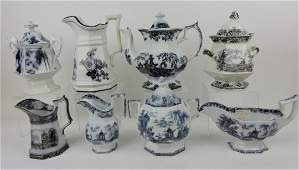 Mulberry transferware lot of 8 pieces: