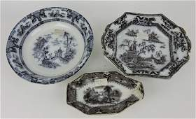 Mulberry transferware lot of 3 pieces,