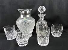 Waterford crystal: vase, decanter,