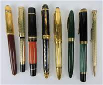 Fountain pen lot of 7 and eversharp pencil