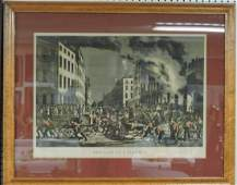 "Currier & Ives ""The Life of a Fireman"