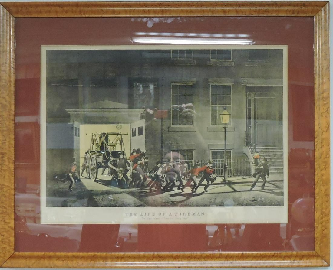 "Currier & Ives ""The Life of a Fireman,"