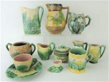 Etruscan majolica lot of 11 pieces,