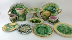 Etruscan majolica lot of 12 pieces,