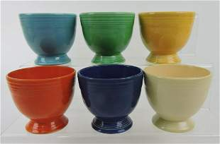 Fiesta egg cup group, all 6 original colors
