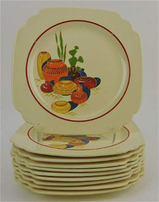 "Fiesta Mexican lot of 10 - 9"" plates"