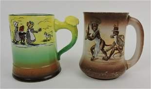HLC Laughlin Art China lot of 2 mugs