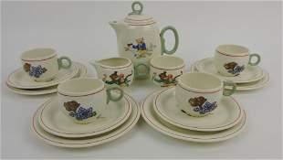 HLC Eggshell child's tea set service for 4