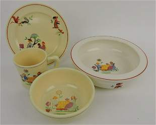 HLC 4 piece child's tea set