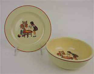 HLC child's bowl and plate