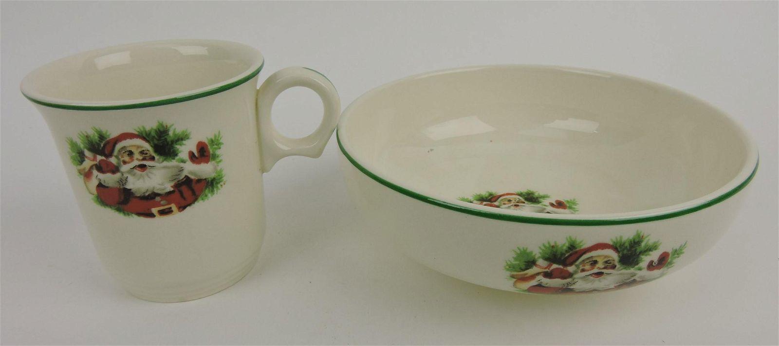 HLC Santa child's bowl & mug