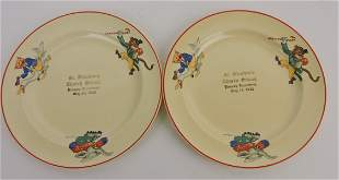 HLC lot of 2 child's plates with