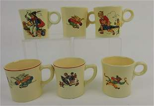 HLC lot of 6 child's mugs