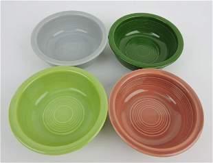 "Fiesta 4 3/4"" fruit bowl group, 4 - 50's"