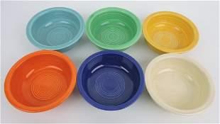 Fiesta 4 3/4 fruit bowl group, 6 original