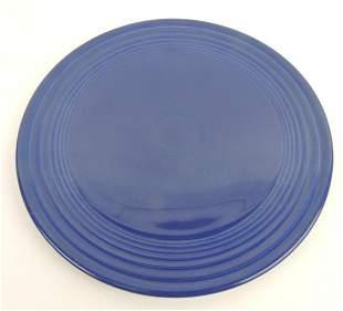 RARE Fiesta cake plate, cobalt