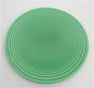 RARE Fiesta cake plate, green