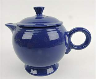 Fiesta large teapot, cobalt