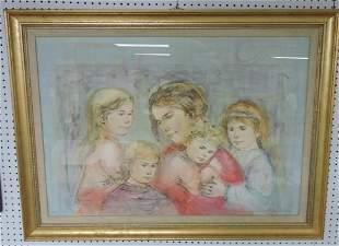 Edna Hibel framed print, 218/300.