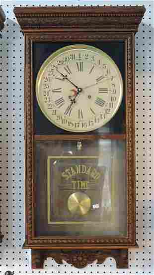 """Gilbert oak wall """"Standard Time"""""""