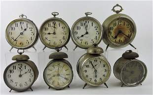 Lot of 8 alarm clocks - Westlake, Big Ben,