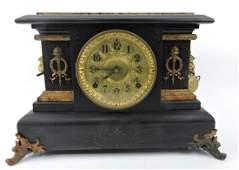 Seth Thomas black mantle clock,