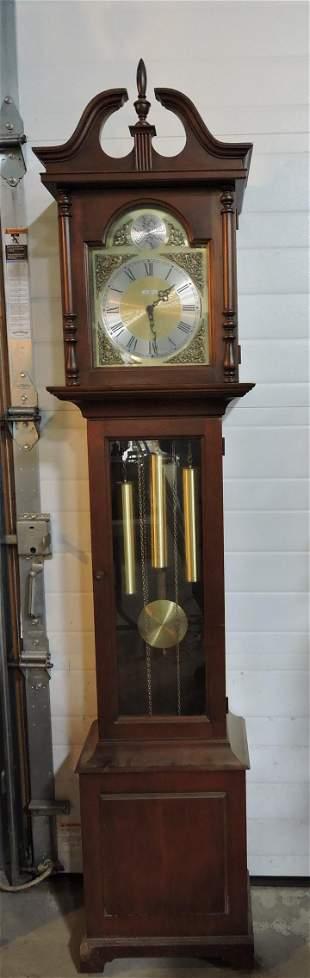 "Howard Miller grandfather clock, 75"""