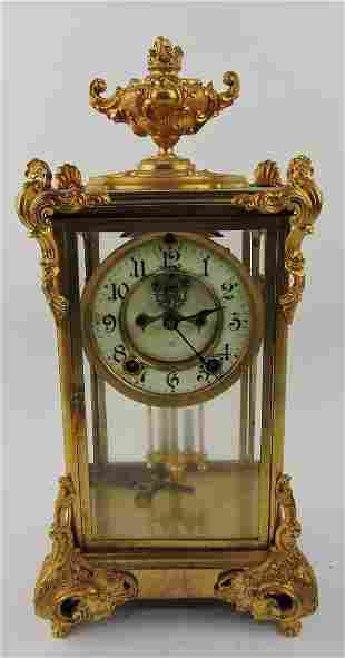 """Ansonia carriage clock, 15"""", key and"""